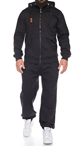 Finchman Finchsuit 1 Herren Jogging Anzug Trainingsanzug Sportanzug FMJS135, Black, L