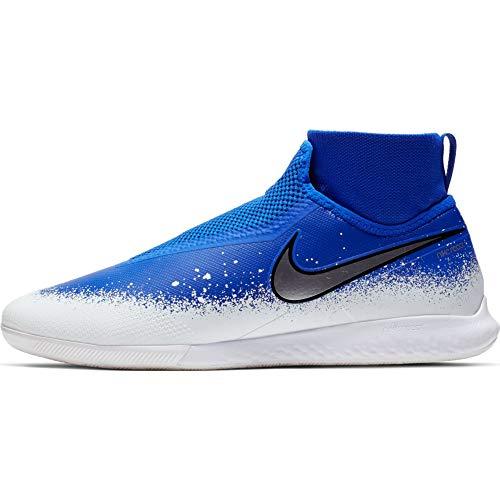 Nike React Phantom Vision Pro DF IC Soccer Shoes (Racer Blue/White/Chrome) (Men's 8.5/Women's 10)
