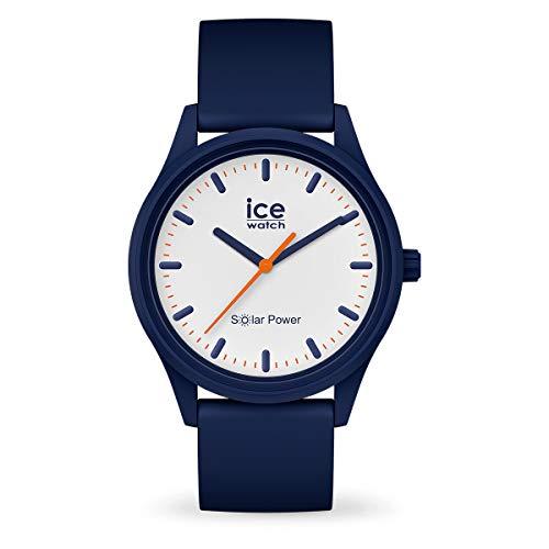 Ice-Watch - Ice Solar Power Pacific - Montre Bleue Mixte avec Bracelet en Silicone - 017767 (Medium)