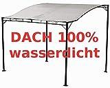 ASS Wand Anbau Pavillon 3 x 2,5 Meter mit Dach 100% wasserdicht UV30+ Tropea, Farbe:Cremeweiss