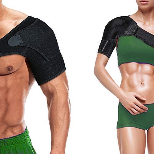 Shoulder brace Sleeve Shoulder Cuff with Pressure Pad Adjustable Breathable Neoprene shoulder...