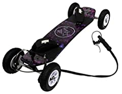 """Sturdy maple-lam deck ATS.12 trucks with 12mm axles are strong, light, and easily adjustable F1 Velcro bindings easily adjust to fit your foot and tire type- T1(8 inch)- 200*50 MBS Rockstar II hubs with genuine MBS 8"""" T1 tires make this board as fast..."""