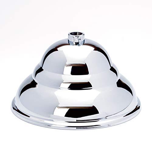 Latón baldaquino flämisch cromo plata brillante diámetro 110mm x 60mm, 10Anilla roseta para techo baldachine, baldaquino de lámpara, Lámpara baldaquino y metal baldaquino