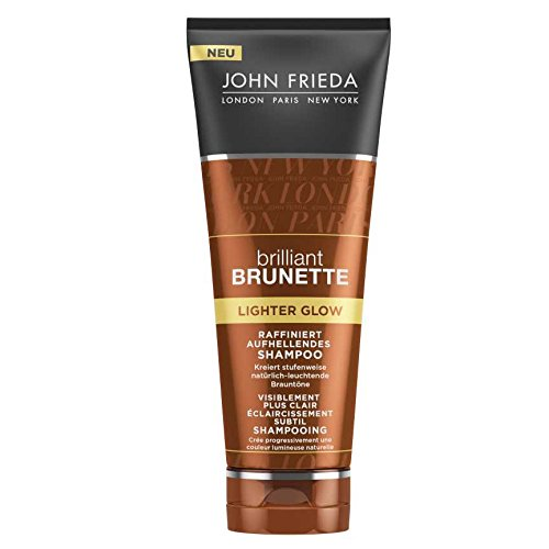 John Frieda Brilliant Brunette Lighter Glow Raffiniert Aufhellendes Shampoo, 2er Pack (2 x 250 ml)