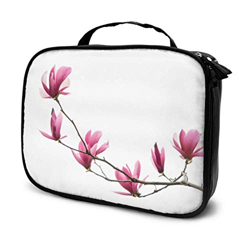 Delicate Beautifui Magnolia Travel Soft Makeup Case Big Cosmetic Bag Makeup Case for Kids Multifunction Printed Pouch for Women