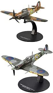OPO 10 - Juego de 2 Aviones de Combate Supermarine Spitfire + Hawker Hurricane 1/72 (AC9 + AC24)