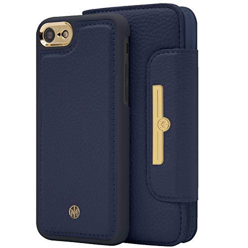 Marvêlle 303 para iPhone 7Plus 8Plus Chic 2 en 1 Funda tipo cartera Qi de carga inalámbrica