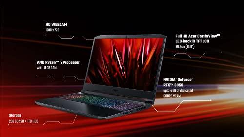 Acer Nitro 5 Gaming Laptop AMD Ryzen 5-5600H- (8GB/ 1TB HDD/256GB SSD/NVIDIA GeForce RTX 3050/ Windows 10 Home/144Hz)  AN515-45