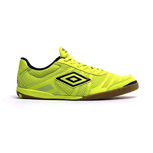 Umbro Futsal Tunder IC, Zapatilla de fútbol Sala, Volt-Navy, Talla 8.5 US (42 EU)