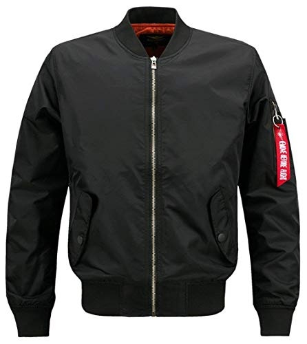 Adelina heren klassiek herfst polyester jack jongens vrije tijd bomber Air Force patches jas mannen buiten windbreaker Men Coat