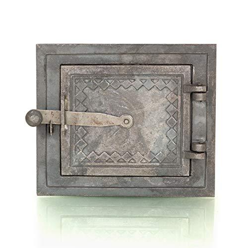Antikas - Ofenklappe, Ofentür mit Rahmen, Warmhalteklappe, Gusseisen, Landhausstil