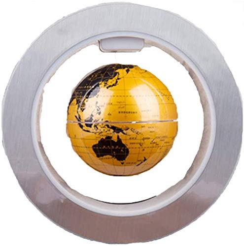 KJHG Globo magnético flotante para la prevención de luces, Sphere Glow Suspension Mapamundi giratorio, varias luces LED incorporadas, enseñanza, Educación, demostración
