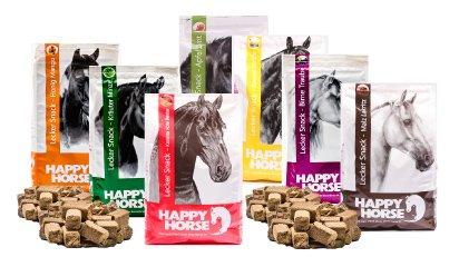 Happy Horse Lecker Snack Sortiert Multibox 8 x 1 kg = 8 kg beinhaltet: 2X Karotte, 2xApfel, 2X Banane, 2X Kräuter-Minze
