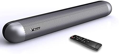 Barra de Sonido TV con Bluetooth 5.0, Altavoces Barras Portátil 2.0 Canales Tecnología DSP Subwoofer Incorporado Soundbar Home Cinema, Oficina y PC con Control Remoto