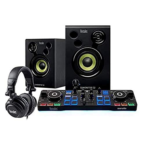 Hercules DJ Starter Kit | Starlight USB DJ Controller with Serato DJ Lite...
