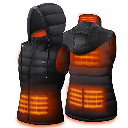 Dr. Prepare Heated Vest, Unisex Heated Clothing for men women, Lightweight USB Electric Heated Jacket with 3 Heating Levels, 6 Heating Zones, Adjustable Size for Hiking (Battery Pack Not Included)
