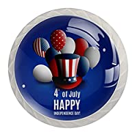 引き出しノブプルハンドル4個 クリスタルガラスのキャビネットの引き出しは食器棚のノブを引っ張る,アメリカ独立記念日