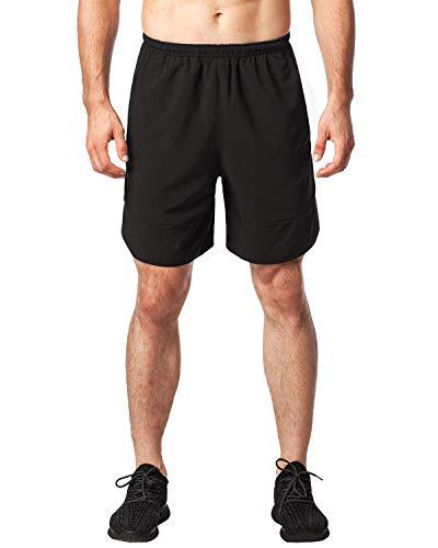 LAPASA Pantaloncini da Allenamento Uomo, Shorts Sportivi a Rapida Asciugatura per Palestra Jogging Running Calcio M27/M28 (S / Small (Vita 71-76 cm), Nero)
