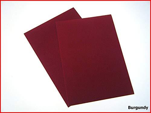 Selbstklebende Rückseite, A4 Blatt Samt Velours Craft DC Fix Vinyl Aufkleber burgunderfarben