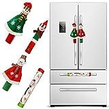 Coitak Christmas Refrigerator Handle Covers Set of 4, 3D Cute Snowman Fridge Door Cover Kitchen Appliance Handle Covers for Kitchen Christmas Decoration