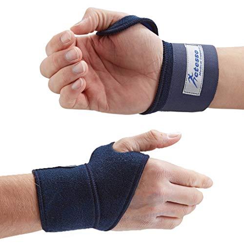 Actesso Blau Handbandage Handgelenkgurt - Handgelenkschiene für Sport, oder Verletzungen durch wiederholte Bewegungsabläufe