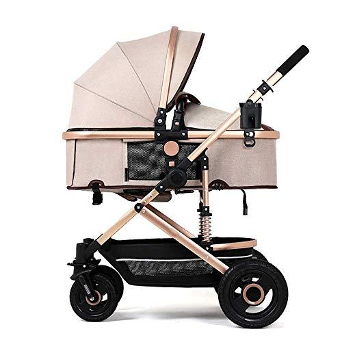 Cochecito de bebé deportivo ligero plegable compacto, extensible Cubierta grande de 4 ruedas de viaje con ruedas extraíble Cochecitos plegables fáciles de una mano (0-36 meses) / Carga 25 kg