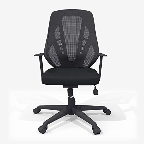 Lefran Mesh Swivel Desk Chair,Ergonomic Executive Office Chair,Adjustable Height High Back Reclining Chair Cushion Armrest Adult-Black