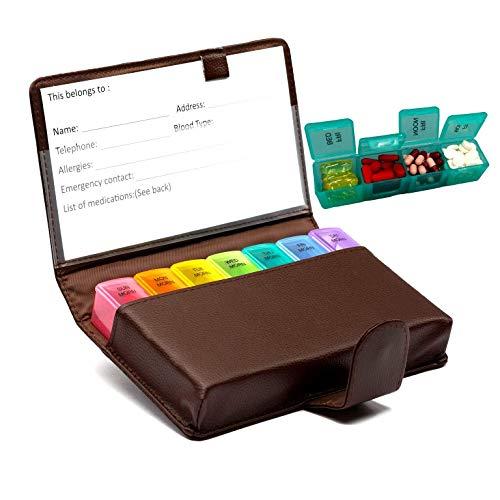 Pill Organizer 7 Day Medicine Box Weekly Large Travel Pills...