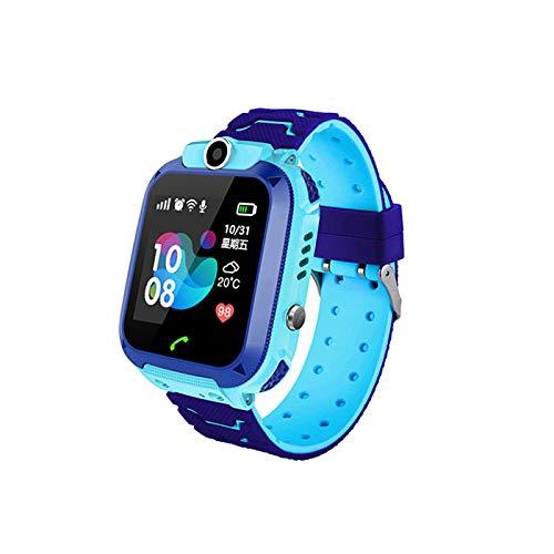 Baalaa Impermeable Q12 Watch MultifuncióN NiiOs Reloj de Pulsera Digital Baby Watch Phone para iOS Android Kids Toy Gift Azul