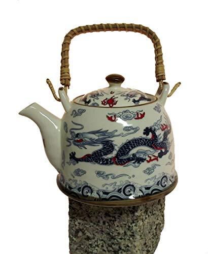 AAF Nommel®, Asiatische Teekanne 05 aus Keramik mit Teesieb und Holzgriff