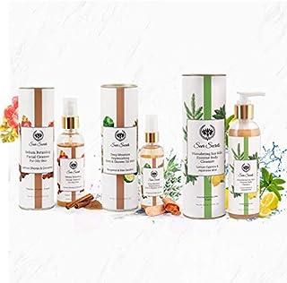Seer Secrets Sebum Retarding Facial Cleanser 100 ml & Deep Moisture Replenishing Bath and Shower Oil Mist 100 ml & Stimula...
