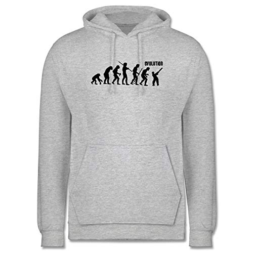 Shirtracer Evolution - Cricket Evolution - XS - Grau meliert - Evolution - JH001 - Herren Hoodie und Kapuzenpullover für Männer