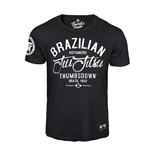 Thumbs Down JIU-Jitsu Brasileño Camiseta Rio Des Janeiro. MMA. Gimnasio Entrenamiento. Marcial Artes Informal