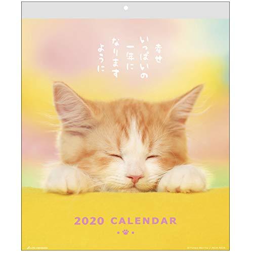 アクティブコーポレーション 2020年 カレンダー 猫 壁掛け CATウォール ACL-02