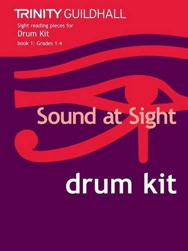 Sound at Sight Drum Kit Book 1: Grades 1-4 (Sound at Sight: Sample Sightreading Tests) by Trinity Guildhall (19-Jul-2010) Sheet music