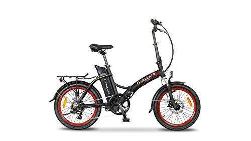 Argento Bicicletta elettrica Piuma Città Pieghevole, Unisex Adulto, Rosso, 42