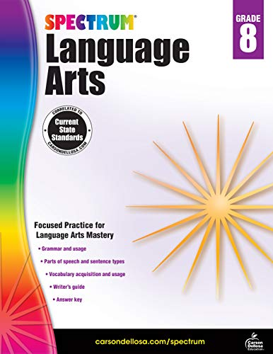 Spectrum | Language Arts Workbook | 8th Grade, 160pgs