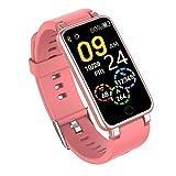 Smart Watch, 1.14 pulgadas impermeable One Button Pulsera Fitness Step Counter Watch, reloj digital multifunción rosa