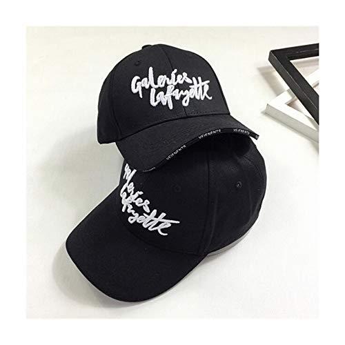 Sombrero de invierno para verano con lengua de pato bordado con letras de béisbol (color negro, talla: F)