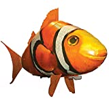 Remote Control Shark Toys Swimming Fish RC Animal Toy Infrared RC Fly Air Balloons Clown Fish Toy Gifts Party Decoration Balloon ANTI-GRAVITY INDOOR TOY HOVERS and FLOATS in MID-AIR(Orange)