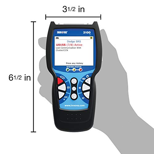 Innova 3100 - Herramienta de diagnóstico y lector de código, Color Screen W/SRS & Oil Light Reset