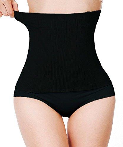 FUT Women Waist Shapewear Belly Band Belt Body Shaper Cincher Tummy Control Girdle Wrap Postpartum Support Slimming Recovery Black
