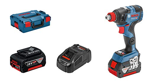 Bosch Professional GDX 18V–200 C - Llave de impacto a batería (18V, 200Nm, conectable, 2 baterías x 5.0 Ah, en L-BOXX)