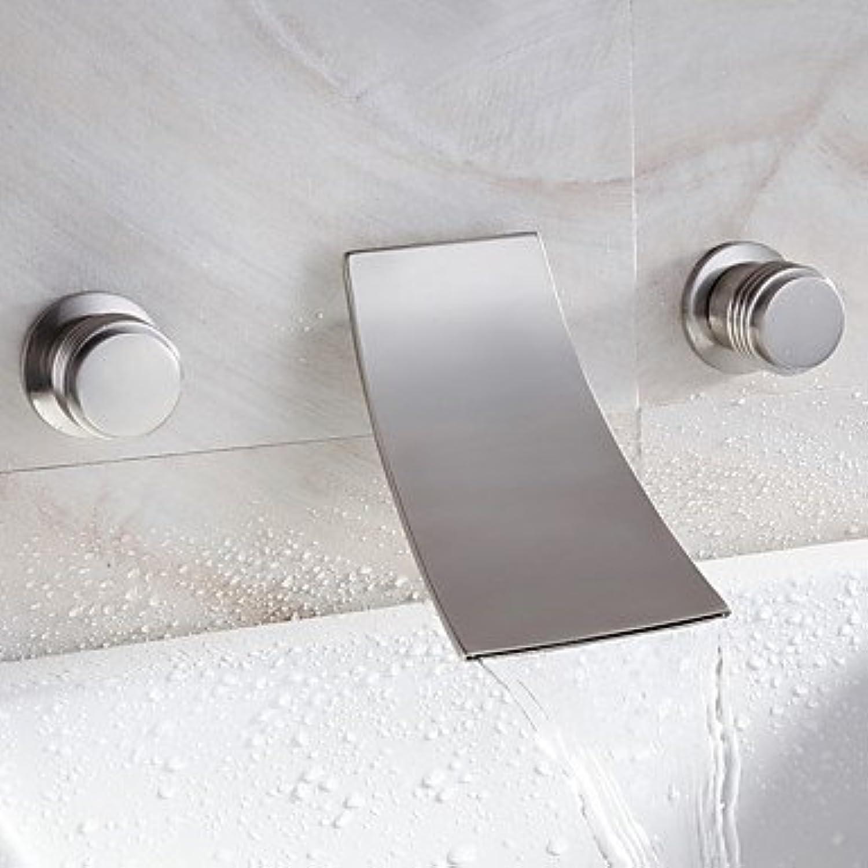 WA Wasserhahn,Wasserfall Waschbecken Wasserhahn weit verbreitete zeitgenssisches Design Wasserhahn (vernickelt)