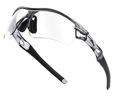 調光サングラス 変色サングラス 調光レンズ 偏光サングラス イエローレンズ付き 色眼鏡 UV400カット 紫外線から目を守るレンズ 可視光通過率99% ユニセックス (クリアグレーレンズ&&調光レンズ、偏光レンズ、イエローレンズ)