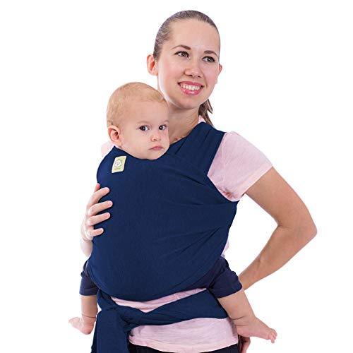 Tragetuch Alles-in-einem - Dehnbare Baby-Tragetücher - Babytrage - Kleinkindtrage - Baby-Tragetuch - Handfrei Babytragetücher – Babyparty-Geschenk - Einheitsgröße (Navy Blau)