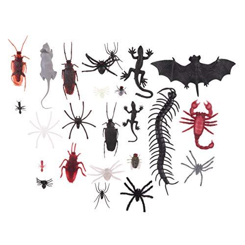 NUOBESTY 88pcs Halloween Kunststoff gefälschte Insekten realistisch Wanzen Schaben Spinnen Ameisen Spielzeug Halloween Streich für Halloween zu