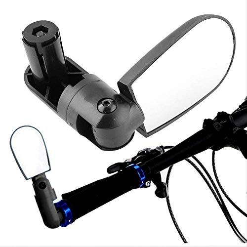 ZHTY Mini Espejos de Bicicleta Vista Trasera Manillar Ajustable Gafas Rotación Universal...