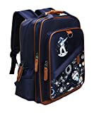 School Backpack 15' with Laptop Sleeve | Kids Galaxy Space Book Bag Dabbing Spaceman Astronaut | Stars Rucksack Lightweight Water Resistant and Durable for Travel and Hiking