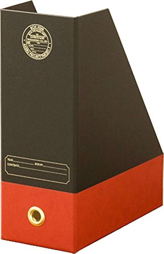 破壊懐異形岩嵜紙器 収納ボックス DOUBLEBOTTOM CATE ブラック/レッド